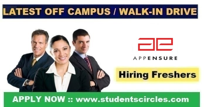 AppEnsure Off Campus Drive 2020